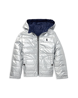 Polo Ralph Lauren Boys Metallic Quilted Jacket  Little Kid