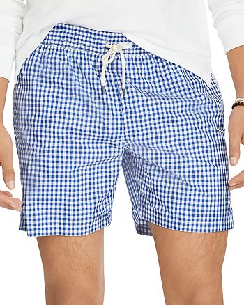Ralph TrunksBloomingdale's Swim Lauren Gingham Polo Traveler TJ31cKlF