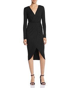 Bailey 44 - Destroyer Ruched Faux-Wrap Jersey Dress