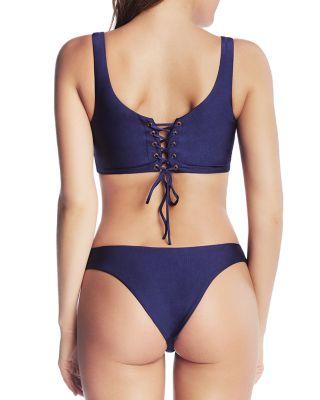 Little Marc Jacobs Miss Marc Floral Bikini Swimsuit Set Whisper White 6