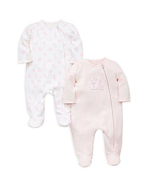 Little Me Girls Safari 2Piece Zip Footie Set  Baby