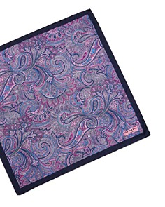 Ted Baker - Sagloo Paisley & Lily Silk Pocket Square