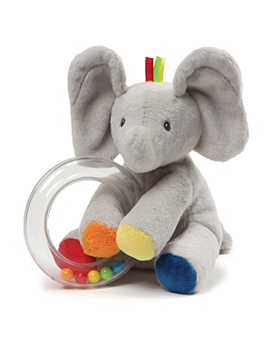Gund Flappy Elephant Ring Rattle - Ages 0+