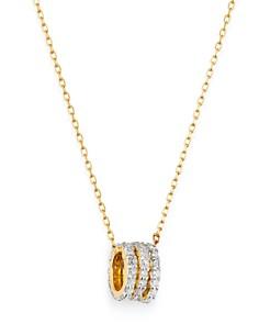 "Adina Reyter - 14K Yellow Gold Tiny Pavé Diamond Beads Pendant Necklace, 16"""