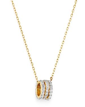 Adina Reyter 14K Yellow Gold Tiny Pave Diamond Beads Pendant Necklace, 16
