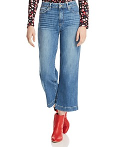 PAIGE - Nellie Crop Wide Leg Jeans in Leigh
