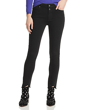 Paige Jeans HOXTON CROP SKINNY JEANS IN BLACK SHADOW