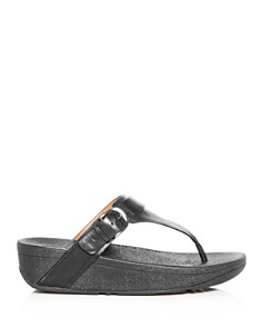 FitFlop - Women's Edit Buckle Platform Flip-Flops