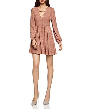 Bcbgeneration Dresses BCBGENERATION METALLIC-STAR V-NECK DRESS