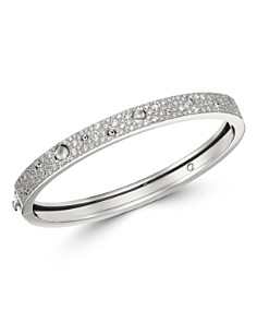 Roberto Coin - 18K White Gold Pois Moi Luna Diamond Bangle Bracelet
