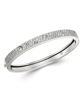 Roberto Coin - 18K White Gold Pois Moi Luna Diamond Bangle Bracelet