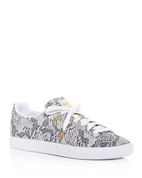 118c7a763435 PUMA - Women s Clyde AO Snake-Embossed Low-Top Sneakers ...