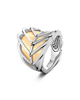 JOHN HARDY - 18K Yellow Gold & Sterling Silver Modern Chain Saddle Ring