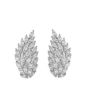 Bloomingdale's - Diamond Feather Drop Earrings in 14K White Gold, 2.0 ct. t.w. - 100% Exclusive