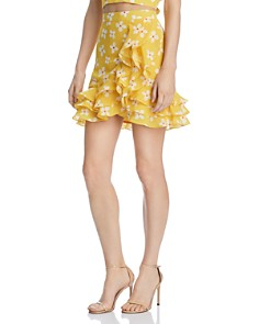 Bardot - Kiki Ruffled Floral Skirt - 100% Exclusive