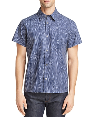 A.p.c. T-shirts CHEMISETTE CIPPI SHORT-SLEEVE DOT-PRINT REGULAR FIT SHIRT