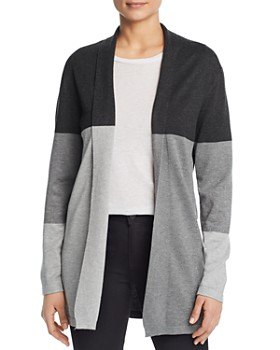 Sioni - Open Front Color Block Cardigan