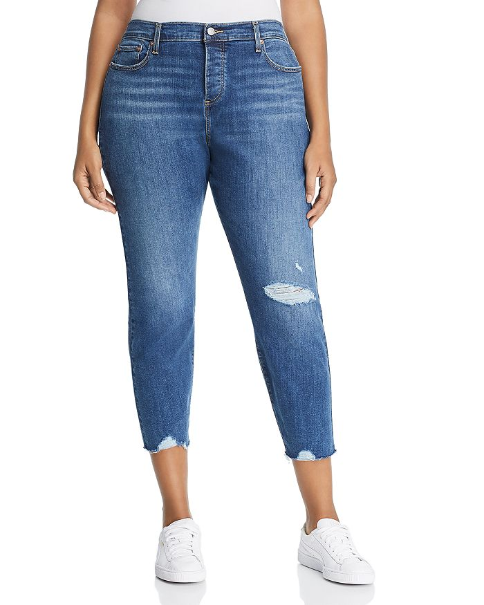 Levi's Plus - Wedgie Skinny Ankle Jeans in Medium Blue