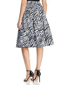 Donna Karan - Pleated Zebra Print Skirt