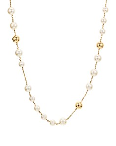Tory Burch - Logo Rosary Necklace, 37""