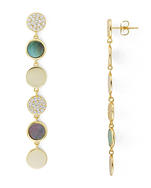 Argento Vivo Circle Mother-of-Pearl Drop Earrings in 18K Gold-Plated Sterling Silver