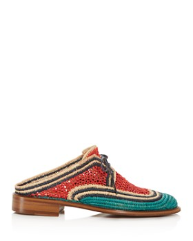 Clergerie - Women's Jaly Color-Block Woven Mules