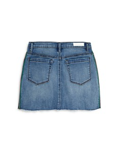 BLANKNYC - Girls' Embroidered Denim Mini Skirt, Big Kid - 100% Exclusive