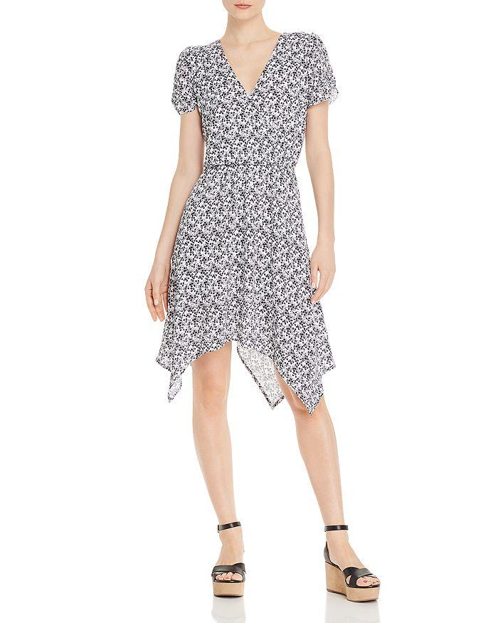 AQUA - Floral-Print Handkerchief-Hem Dress - 100% Exclusive