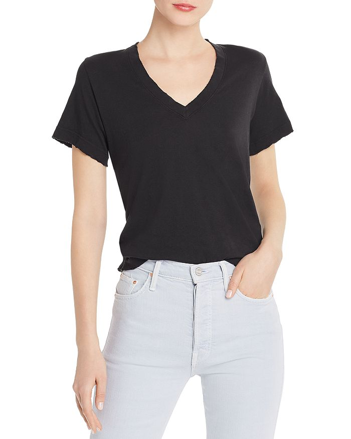 Current/Elliott - The Perfect Distressed-Trim Tee
