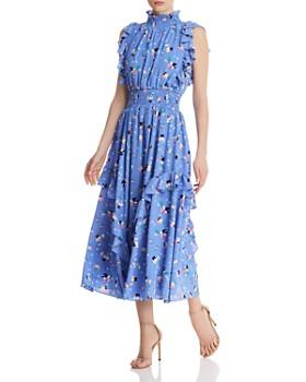 875fbadeb8f703 nanette Nanette Lepore - Ruffled Floral Dress ...