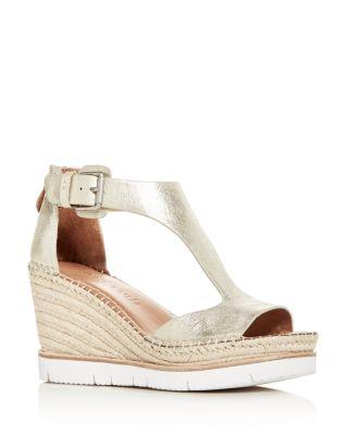 Raquel T-Strap Wedge Platform Sandals