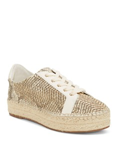 VINCE CAMUTO - Women's Joellan Snake-Embossed Leather Espadrille Sneakers