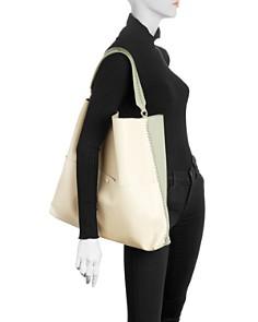 Callista - Iconic Two-Tone Leather Slim Tote