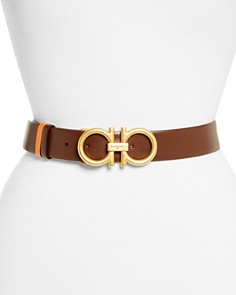 Salvatore Ferragamo - Gancini Reversible Leather Belt