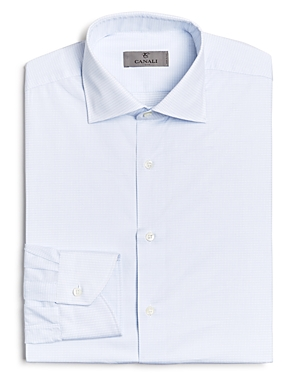 Canali Graphic Check Regular Fit Dress Shirt-Men