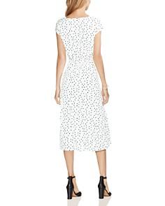 VINCE CAMUTO - Tie-Waist Polka Dot Dress