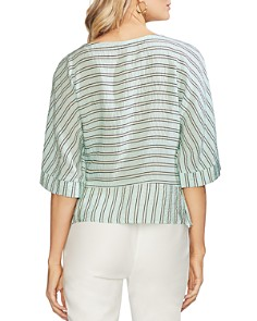 VINCE CAMUTO - Striped Side-Tie Blouse
