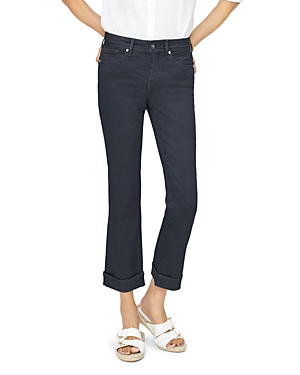 Nydj Jeans MARILYN STRAIGHT ANKLE JEANS IN BLACK