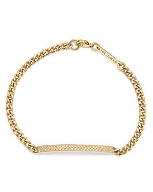 Zoe Chicco 14K Yellow Gold Small Curb Diamond Id Bracelet-Jewelry & Accessories