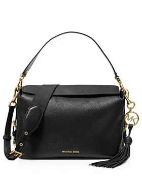 MICHAEL Michael Kors - Brooke Medium Leather Satchel ... 789415e25cdaf