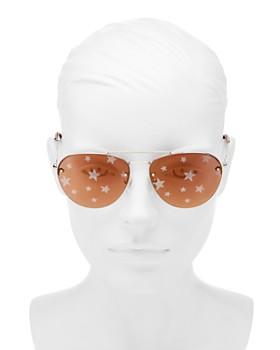 1c8719a6b869 ... 59mm Miu Miu - Women s Mirrored Brow Bar Aviator Sunglasses