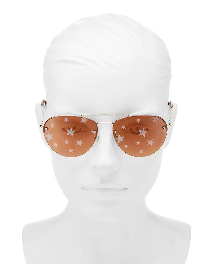 cfaf00e62 Miu Miu Women's Mirrored Brow Bar Aviator Sunglasses, 59mm ...