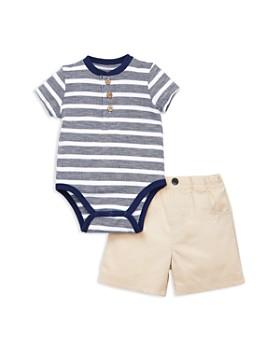 d48b94f1c Little Me - Boys' Stripe Bodysuit & Khaki Shorts Set - Baby ...