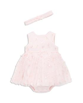 9947daba671 Little Me - Girls  Butterfly Bodysuit-Dress   Headband Set - Baby