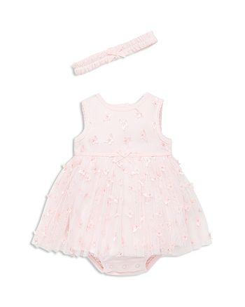 Little Me - Girls' Butterfly Bodysuit-Dress & Headband Set - Baby
