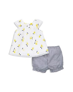 Little Me - Girls' Lemon Tunic & Stripe Shorts Set - Baby