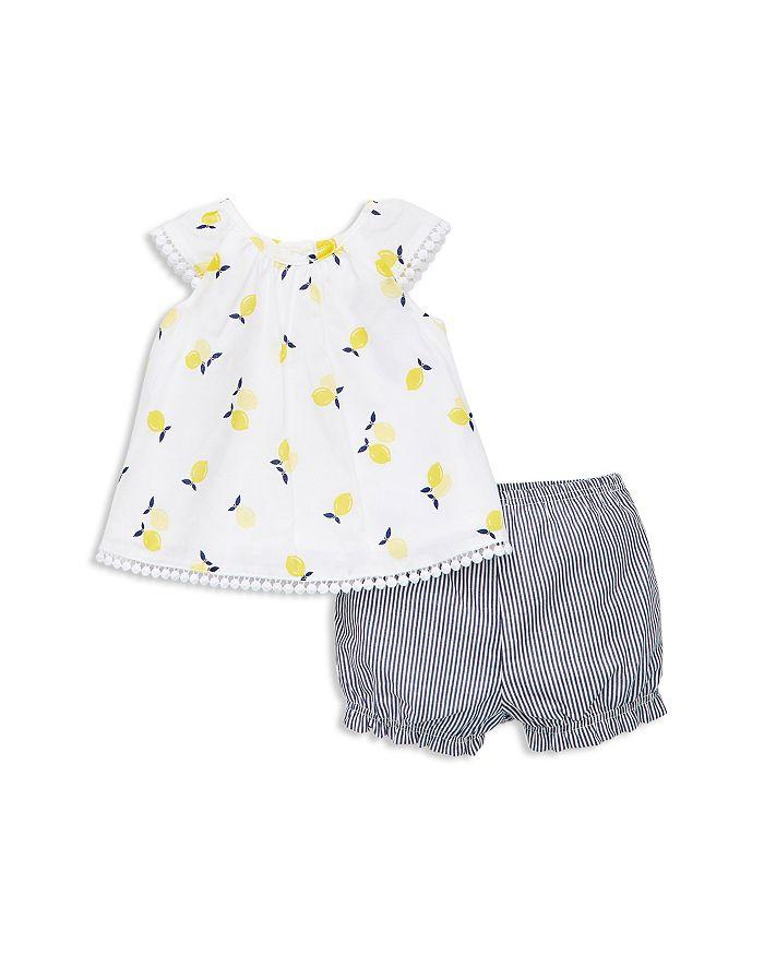 Little Me - Girls' Lemon Tunic & Stripe Shorts Set - Baby