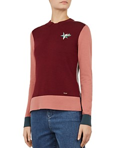Ted Baker - Colour by Numbers Esmeia Color-Block Sweater