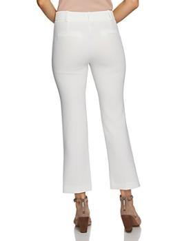 1.STATE - Textured Crepe Mini Kick Flare Pants