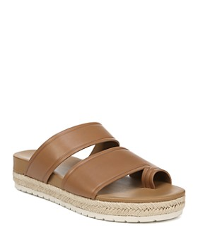 Vince - Women's Floyd Leather Espadrille Platform Slide Sandals